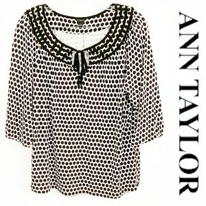 ANN TAYLOR Womens Long Sleeve Knit Top Size Large